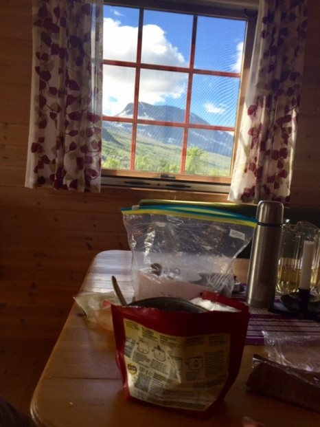 Lunch i norsk hytta