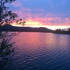 Den sista solnedgången på turen. Vackert!